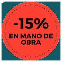 15% mano de obra
